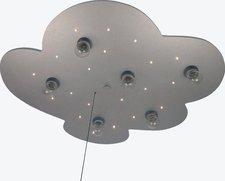 Niermann Deckenleuchte Wolke XXL titan/silber 6-flg. + 20 LED