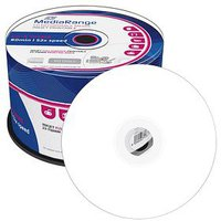 MediaRange CD-R 700MB 80min 52x Inkjet fullprintable 50er Cakebox