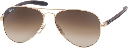 Ray Ban Aviator Carbon Fibre RB8307 112/85 (gold shiny/dark brown)