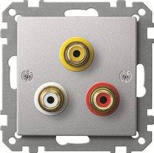 Merten Steckdose für Audio/Video Anschluss, aluminium MEG4351-0460