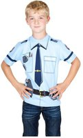Kid's Shirt Polizei T-Shirt hellblau