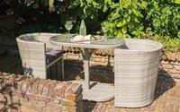 Hartman Continental Polyrattan-Sitzgruppe (Tisch + 2 Sessel)