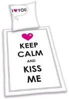 Herding Keep calm and kiss me, 445901050 (80 x 80 + 135 x 200 cm)