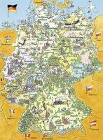 Ravensburger Bunte Deutschlandkarte (100 Teile XXL)