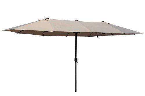 Leco Oval-Schirm 270 x 460 cm beige/natur