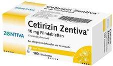 Winthrop Cetirizin Zentiva 10 mg Filmtabletten (100 Stk.)