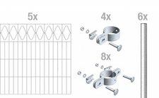 GAH Eleganz Metall-Zaun-Grundset BxH: 10 x 0,8 m