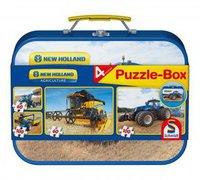 Schmidt Spiele New Holland: Puzzle-Box im Metallkoffer (2 x 60 Teile, 2 x 100 Teile)