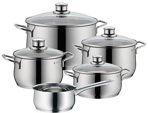WMF Diadem Plus Kochgeschirr-Set mit Stielkasserolle 5 tlg.