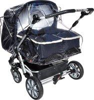 ASMi Regenhaube für Zwillings-Kinderwagen Geschwisterwagen