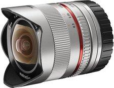 Walimex pro 8mm f2.8 Fish-Eye II CSC (silber) [Canon EF-M]