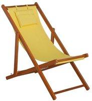 Siena Garden Faro Strandliegestuhl (Teak) gelb