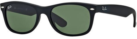 Ray Ban New Wayfarer RB2132 622 (black rubber/green)
