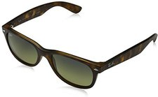 Ray Ban New Wayfarer RB2132 894/76 (matte havana/blue green mirror polarized)
