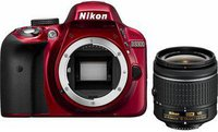 Nikon D3300 Kit 18-55 mm [Nikon G VR II] (rot)