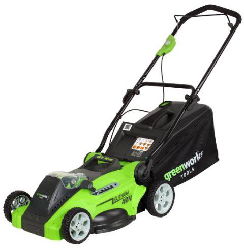 Greenworks Akku Rasenmäher G-MAX 40V 40cm 4 Ah (mit Akku und Ladegerät)