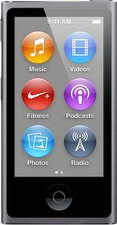 Apple iPod nano 7G 16GB spacegrau