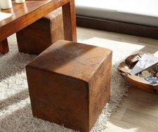 DeLife Sitzwürfel Dado braun (45 x 45 cm)