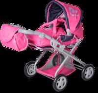 Knorr Kyra Puppenkombiwagen flower power pink