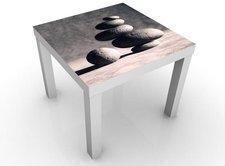 Mantiburi Design Tisch In Harmony schwarz/weiß (55 x 45 x 55 cm)