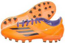 Adidas F10 TRX AG J solar zest/blast purple/black
