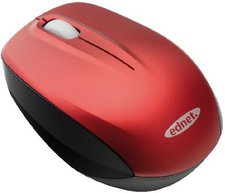 Ednet Notebook Wireless Mini Mouse - 81157 (red)