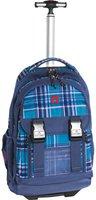 Take It Easy Rucksack Trolley Madrid Viola Blue