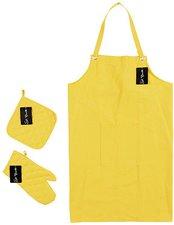 St. Barth Küchentextilien Topflappen Baumwolle gesteppt gelb