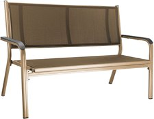 Kettler Basic Plus Bank 2-Sitzer (Alu-Textil) champagner/mocca