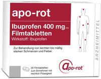 Actavis Ibuprofen apo-rot 400 mg Filmtabletten (20 Stk.)