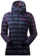 Bergans Humle Lady Jacket Light Primula / Navy Striped / Red