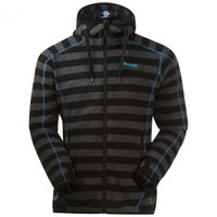 Bergans Humle Jacket Dark Grey Striped / Sea Blue
