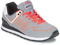 New Balance WL574 grey/neon orange (WL574NEP)
