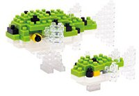 Kawada Nanoblock - Green Spotted Puffer