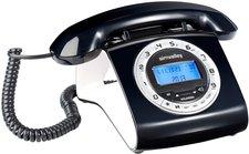 Simvalley Schnurgebundenes Retro-Festnetztelefon schwarz