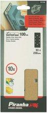 Piranha Schleifblatt-Set 93 x 230 mm 10 tlg. K100 gelocht (X31105)