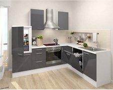 Respekta Premium L Küche weiß grau (260x200 cm)