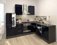 Respekta Premium L Küche Eiche schwarz (260x200 cm)
