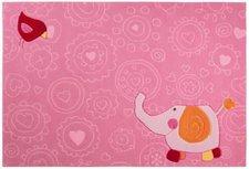 sigikid Happy Zoo Elephant rosa 120x180cm