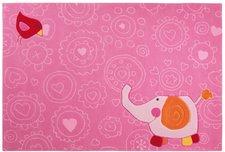 sigikid Happy Zoo Elephant rosa 140x200cm