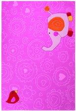 sigikid Happy Zoo Elephant rosa 170x240cm