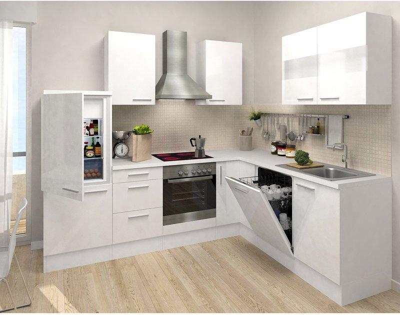 Respekta Premium L Küche weiß weiß (260x200 cm) Preisvergleich ab ...