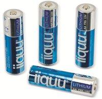 iiquu Lithium Batterie AA FR6 1,5V 2900 mAh (4 St.)