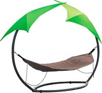 Leco Relax Hängematte mit 2 Sonnenschirmen
