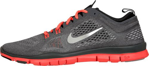 Nike Free 5.0 TR Fit 4 Wmn cool grey/anthracite/bright mango/metallic silver