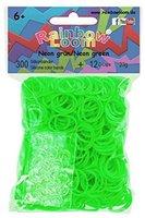 Rainbow Loom Silikonbänder 300 Stück neongrün