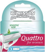 Wilkinson Quattro Women Sensitive Rasierklingen (3er)