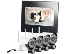 VisorTech Digitales Überwachungssystem DSC-720.mc mit 4 HD-Kameras
