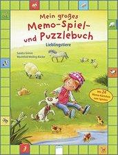 Arena Verlag Mein großes Memo-Spiel- und Puzzlebuch - Lieblingstiere