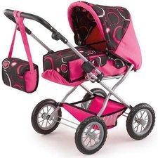 Bayer Design Kombi-Puppenwagen Grande schwarz rosa